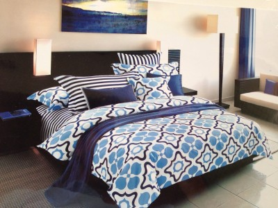 Zesture Cotton Geometric Queen sized Double Bedsheet