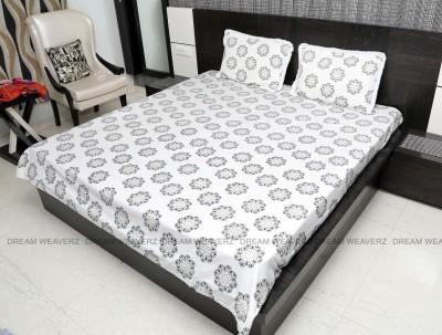 Dream Weaverz Cotton Self Design Double Bedsheet