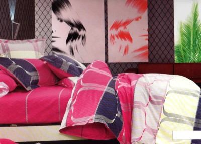 SKILIN Cotton Printed Double Bedsheet