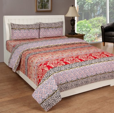 RS Quality Cotton Floral Double Bedsheet