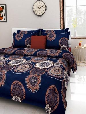 Rose Petal Polycotton Floral Double Bedsheet
