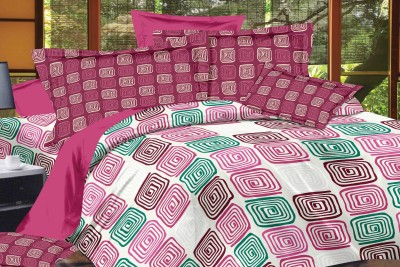 DreamFly Cotton Printed Double Bedsheet
