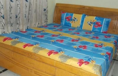 Shri Creation Cotton Floral Double Bedsheet