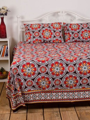 Ocean Collection Cotton Floral Double Bedsheet