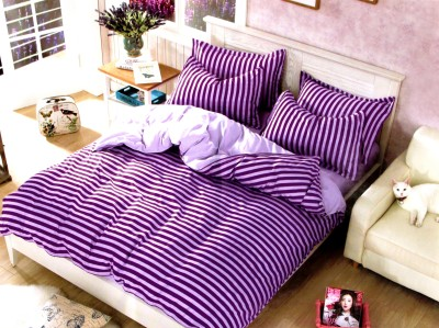 Indiano Polycotton Striped Double Bedsheet