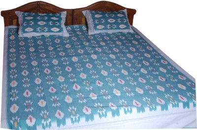 Pochampally Cotton Abstract Double Bedsheet