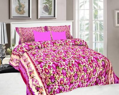 SS Decor Polycotton Floral Double Bedsheet