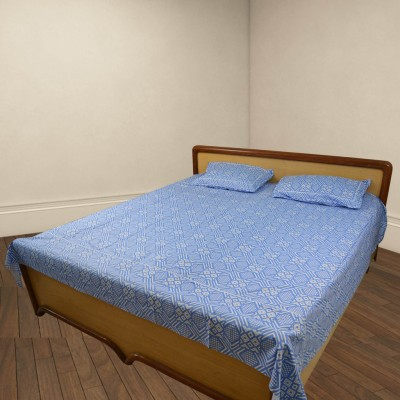 Thefancymart Cotton Geometric Double Bedsheet