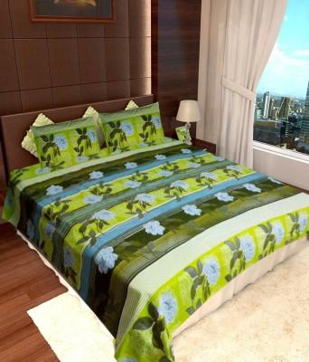Cotton Floral Double Bedsheet