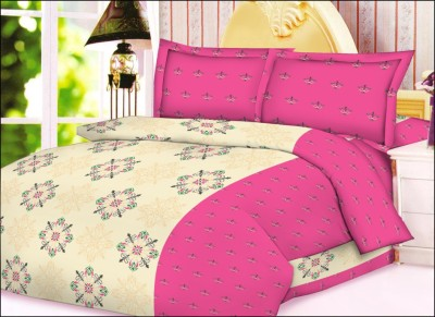 JCT Homes Cotton Floral Double Bedsheet