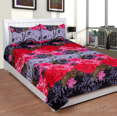 iTrend India Polycotton Floral Double Bedsheet