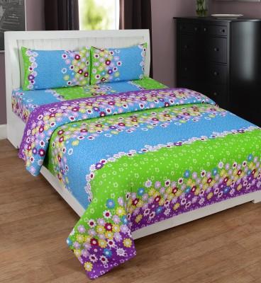 ShopSince Cotton Floral Double Bedsheet