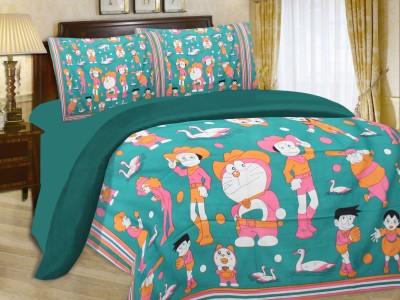 Floroscent Cotton Floral Queen sized Double Bedsheet