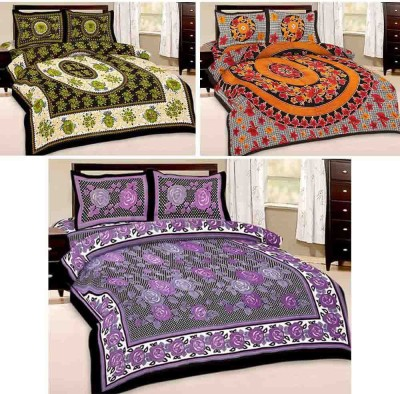Tradition India Cotton Printed Double Bedsheet