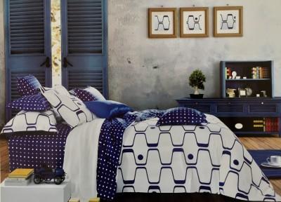 Fashion Pujari Cotton Geometric Queen sized Double Bedsheet