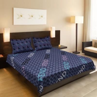 Sofitel Cotton Linen Blend Printed Queen sized Double Bedsheet