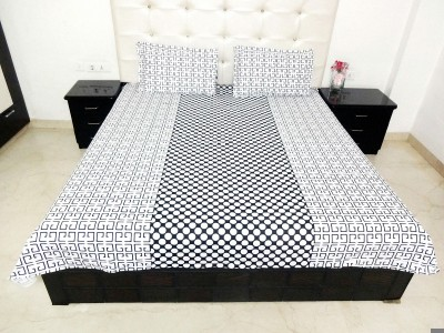 K Gallery Cotton Polka Double Bedsheet