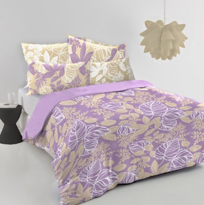 MYCK Cotton Floral King sized Double Bedsheet