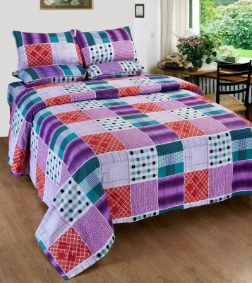 Glory Creations Cotton Abstract Queen sized Double Bedsheet