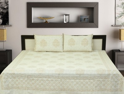 Touch Feel Cotton Self Design King sized Double Bedsheet