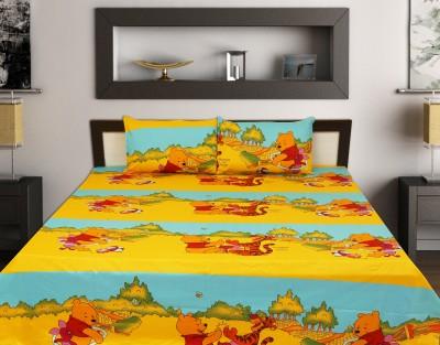sleepwell Cotton Cartoon King sized Double Bedsheet