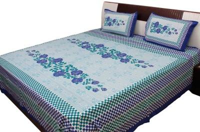 vivancreation Cotton Printed Double Bedsheet