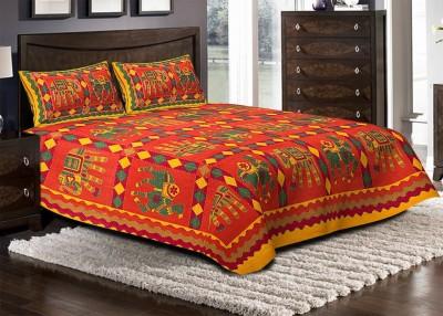 Jaipuri Haat Cotton Printed King sized Double Bedsheet