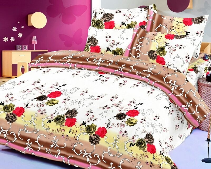 Octane Cotton Floral Double Bedsheet
