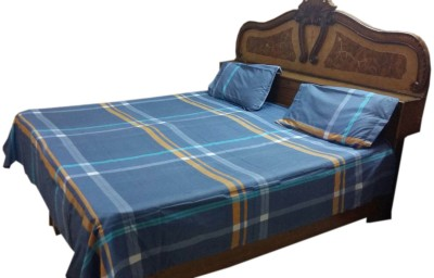 Shreem 2015 Polycotton Checkered Double Bedsheet