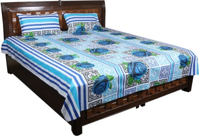 Nitin traders Cotton Printed Double Bedsheet