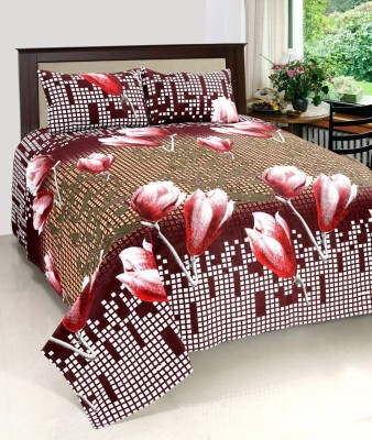 Jee pole Cotton Floral Double Bedsheet