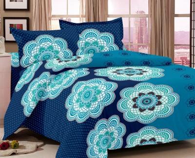 Home Castle Satin Floral Double Bedsheet