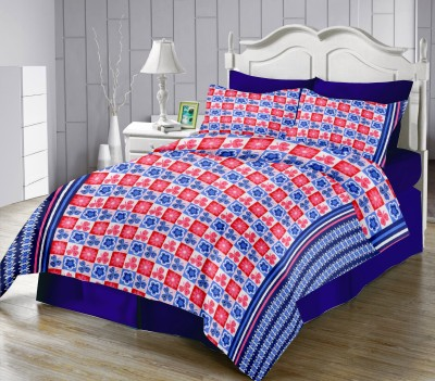 LISSOME Polycotton Floral Queen sized Double Bedsheet