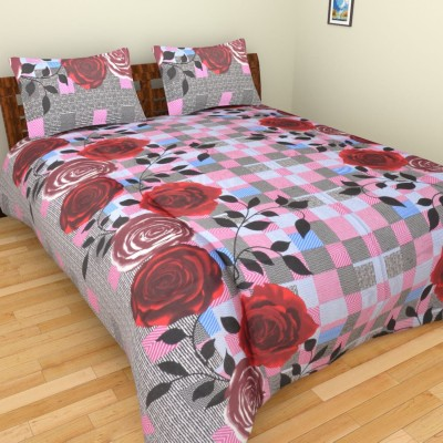 Parkash Fabrications Cotton Floral Double Bedsheet