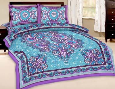 Artisan Creation Cotton Floral Double Bedsheet