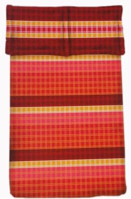 Amk Home Decor Cotton Checkered Double Bedsheet