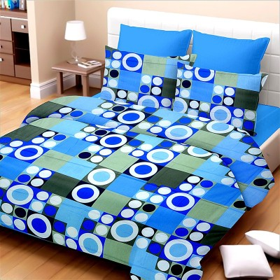 Jiya Decor Cotton Printed Double Bedsheet