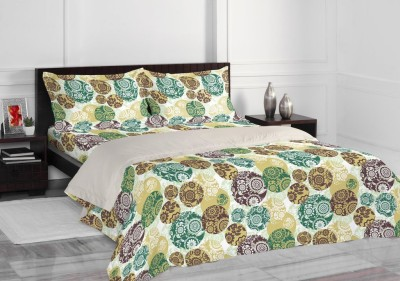 Welhome by Welspun Cotton Abstract Double Bedsheet