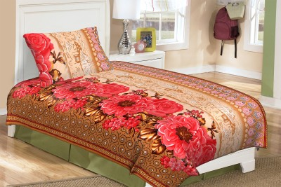 Buy Clues Cotton Floral Single Bedsheet