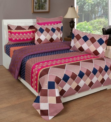 RedHot Cotton Abstract King sized Double Bedsheet