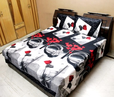 Indiano Polycotton Abstract Queen sized Double Bedsheet