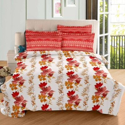 Aarya Home Cotton Floral Double Bedsheet