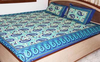 SR Crafts Cotton Printed Double Bedsheet