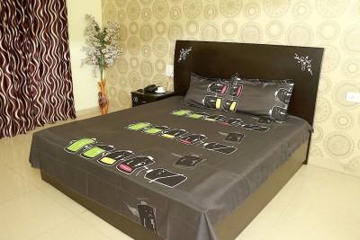 Shopcrats Polycotton 3D Printed Double Bedsheet
