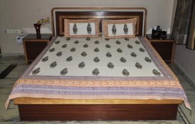 Lal Haveli Cotton Paisley Double Bedsheet