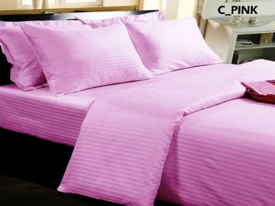 LEON Satin Striped King sized Double Bedsheet
