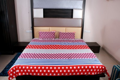 Aarav Collection Cotton Checkered Double Bedsheet