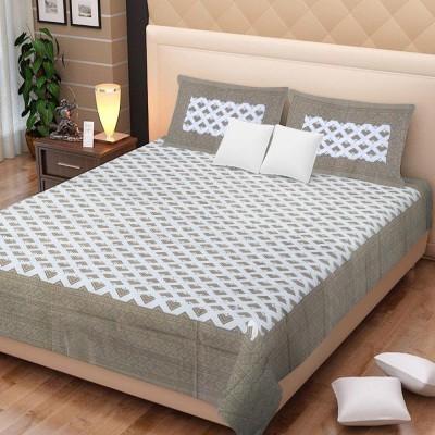SANTOSH ROYAL FASHION Cotton Printed Double Bedsheet