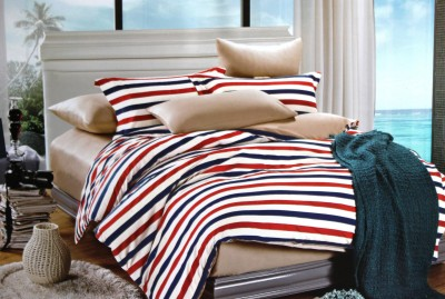 Indiano Cotton Striped Double Bedsheet