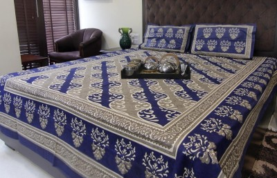 Glitter Cotton Abstract Queen sized Double Bedsheet